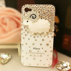 Bling bling I phone 4S case Spring item -little sheep sheep US$13