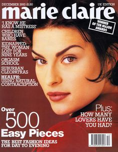 MAGALI AMADEI Marie Claire Cover December 1993