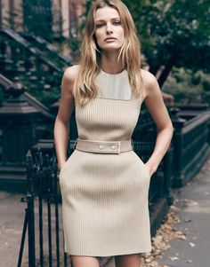 """Edita Vilkeviciute in """"Uptown Girl"""" for Porter Magazine Winter 2014 Photographed by: Erik Torstensson Queen Dress, Dress Up, Belted Dress, Love Fashion, Womens Fashion, Fashion Design, City Fashion, Look 2015, Edita Vilkeviciute"""