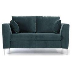 ACHICA | Jane 2 Seater Sofa, Grey Velvet