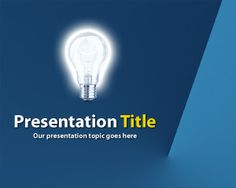 Free business idea with light bulb PowerPoint template background