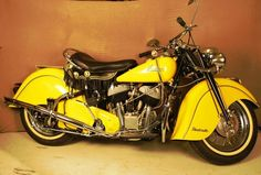 Indian Chief Motorcycle-- love the look of an Indian bike in yellow Motos Vintage, Vintage Indian Motorcycles, Antique Motorcycles, Cool Motorcycles, Vintage Bikes, Indian Motorbike, Triumph Motorcycles, Vintage Toys, Motorcycle Design