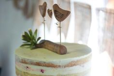 Rustic Lovebirds Wedding Cake Topper