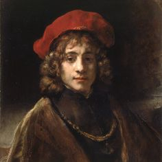 Rembrandt Harmenszoon van Rijn (Dutch [Dutch Golden Age, Baroque] Titus, the Artist's son. Rembrandt Portrait, Rembrandt Paintings, Rembrandt Art, Baroque Painting, Baroque Art, List Of Paintings, Art Paintings, Tableaux Vivants, Art Occidental