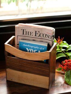 Elegant sheesham wooden magazine cum newspaper stand