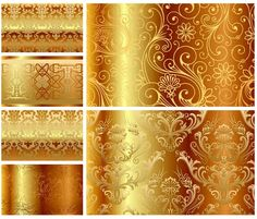 Shiny yellow leaf gold foil texture background in 2018 ...