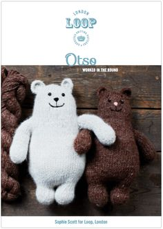 Otso, the Finish bear, worked in the round
