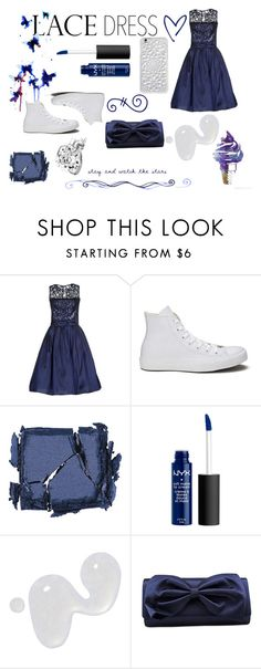 """""""Lace Dress"""" by geekygal2003 ❤ liked on Polyvore featuring BGN, INDIE HAIR, Converse, Surratt, Illamasqua, La Regale and Felony Case"""