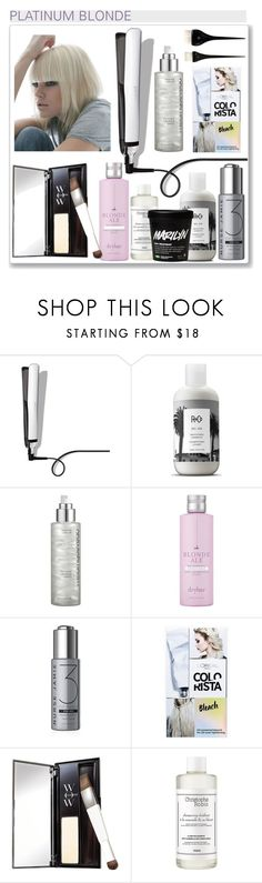"""""""Platinum Blonde"""" by hellodollface ❤ liked on Polyvore featuring beauty, GHD, R+Co, Miriam Quevedo, Drybar, Nurse Jamie, L'Oréal Paris, Color Wow, Christophe Robin and Lauren Conrad"""
