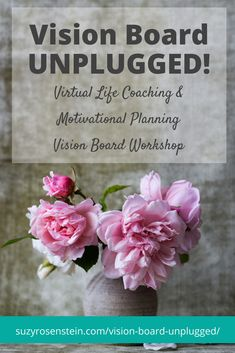 Vision Board Workshop ONLINE! Virtual Vision Board Workshop! Vision Board Unplugged! Life Coaching and Motivational Planning Workshop - all online. Participate wherever you live! visionboard \ vision boards \ dream boards \ planning \ vision \ board \ mindfulness \ law of attraction \ coaching \ life coaching \ midlife \ goals \ dreams \ life coach \ aging \ turning 50 \ online learning \ virtual workshop