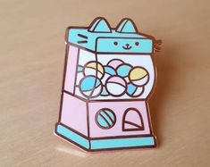 Check out our enamel pin pastel selection for the very best in unique or custom, handmade pieces from our shops. Cool Stationary, Ghibli, Artist Alley, Cool Pins, Pin And Patches, Hard Enamel Pin, Lapel Pins, Cute Stickers, Pin Collection