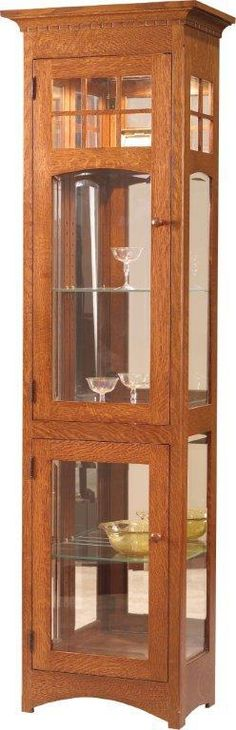 tall mission style curio cabinet. i've been looking for one just