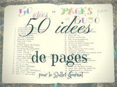 bullet journal 50 idees de pages 600x450