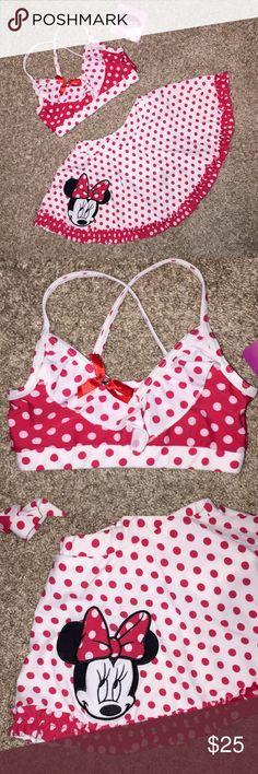 New Disney Minnie Mouse 2 Piece Skirt-Tini Sz 4T New Disney Minnie Mouse 2 Piece Skirt-Tini Sz 4T Disney Swim Bikinis