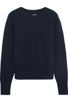 FRAME - Ribbed Wool And Cashmere-blend Sweater - Navy - x small