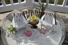 Too cute! Miniature Beach Vacation for Two with a by LandscapesNMiniature