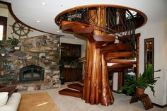 Spiral staircase? Completely necessary. Looks like a tree? YES.