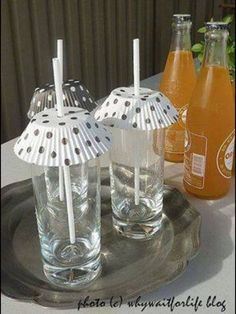 Keeps The Bees And Flies Away. Easy Cheap Solution For Summer Drinks!