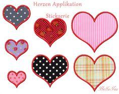 Weiteres - Herz Applikation 10x10 Stickdatei - ein Designerstück von -BellaIsa- bei DaWanda