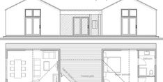 House Plan CH339 Cottage Floor Plans, Pole Barn House Plans, Pole Barn Homes, New House Plans, Cabin Plans, Small House Plans, House Floor Plans, Building A Container Home, Container House Design
