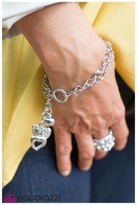 """""""Close to My Heart """" Bracelet. This one is perfectly girly. http://shop.paparazziaccessories.com/17372"""