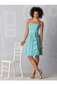 Sleeveless Strapless A-Line Bridesmaid Dress  Now: $97.67