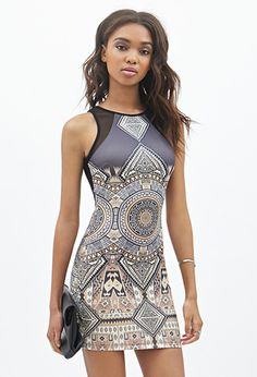 Going to forever 21 tomorrow to get this dress. Tribal Print Scuba Knit Dress | FOREVER21 - 2000138709