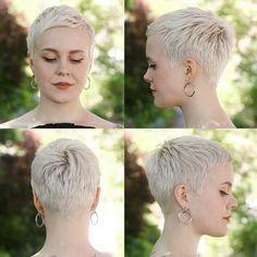 Alexandre Takao Short Hairstyles – 1 New Site - Kurzhaarfrisuren Short Grey Hair, Short Hair Cuts For Women, Short Hairstyles For Women, Really Short Hairstyles, Blonde Pixie, Super Short Pixie, Very Short Pixie Cuts, Very Short Haircuts, Pixie Hairstyles