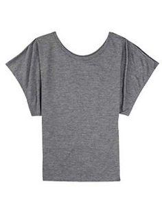 Bella Ladies 3.7 oz. Flowy Draped Sleeve Dolman T-Shirt - WHITE - S $6.99