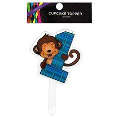 Cake Toppers Birthday Hobby Lobby : Brother Sister Design Studio First Birthday Monkey Straw ...