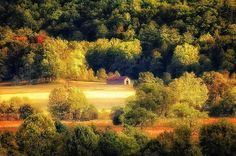 Barn in a meadow - Cades Cove, Tennessee