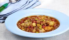 Αργεντίνικη σούπα με φακές και λαχανικά