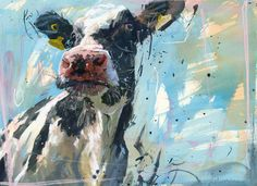 I would love this cow painting...