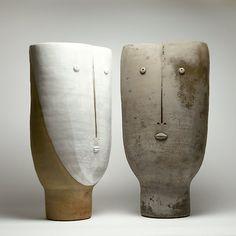 Dalo - Ceramic anthropomorphic vase  http://www.galerieriviera.com