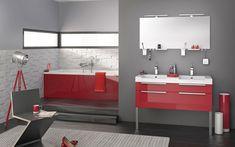 meubles de salle de bain Inspirations rouge brillant