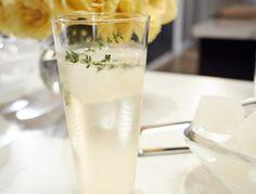 Lemon-Thyme Prosecco recipe from Giada De Laurentiis via Food Network