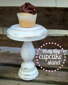 Plant stands on pinterest plant stands cake stands and for Cupcake stand plans