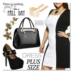 """""""Fall Look: Plus Size Dresses"""" by jecakns ❤ liked on Polyvore featuring dress and plussize"""
