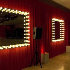 dressing room mirrors (from Plunge Productions)