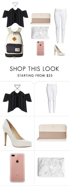 """""""Untitled #48"""" by ashlynnebagnal on Polyvore featuring Jessica Simpson, Kate Spade, Belkin and The North Face"""