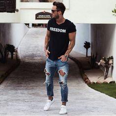Magic Fox #Fashion #Men #Style #Rippedjeans #Freedom #Fit #Haircut
