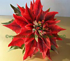 Estrella de la Navidad en el Tutorial-HOW TO MAKE A gumpaste gumpaste DEL POINSETTIA