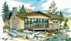 Eplans Contemporary-Modern House Plan - Nice Leisure Home For Vacations - 988 Square Feet and 2 Bedrooms from Eplans - House Plan Code HWEPL06022