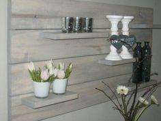 Wandbord steigerhout Decor, Home Decor, Deco, Vase