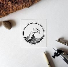 Ideas for tattoo mountain sea art prints Cover Tattoo, Tattoos, Ink Art, Pen Art, Art Tattoo, Art, Geometric, Prints, Sea Art