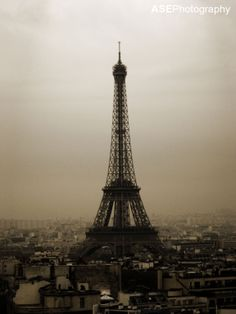 The Eiffel Tower in February #Paris #Photography #monotone