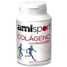Ana Maria Lajusticia COLAGENO c MAGNESIO AML Sport 270 comp -  en casos de ARTROSIS OSTEOPOROSIS TENDINITIS  rotura d LIGAMENTOS deterioro d la PIEL rotura d VASOS SANGUINEOS (hematomas), caída d CABELLO UÑAS frágiles. APORTA ELASTISIDAD y tiene un efecto rejuvenecedor d los tejidos - P comp Colágeno 600 mg. - Tomar d 6-9 al día c las comidas - Magnesio (carbonato, hidróxido silicato, estearato) 31,6 mg. - Articulaciones y huesos