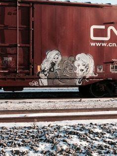 Boxcar, Train Art, Rail Car, Pinup Art, Graffiti Art, Murals, Trains, Street Art, Cars