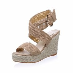 4da722ad203b Braided straps enhance the boho beauty of a weaved espadrille sandal lofted  by a wedge heel