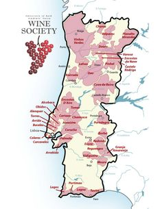 Portugal Wine Region Map